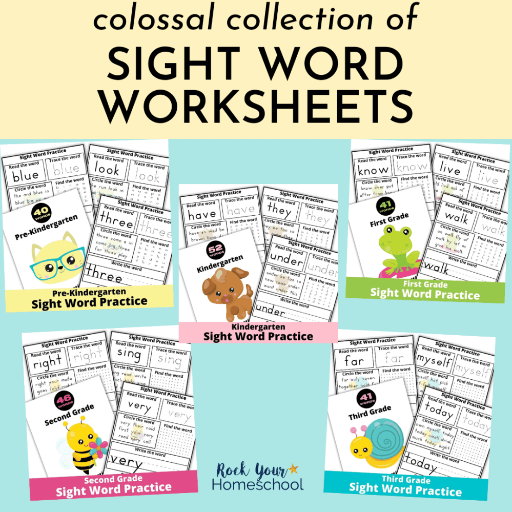 medium resolution of Collection of Fun Sight Word Worksheets - Rock Your Homeschool