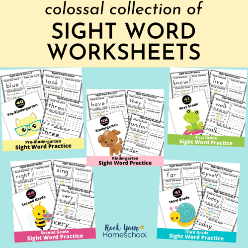 small resolution of Collection of Fun Sight Word Worksheets - Rock Your Homeschool