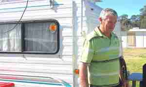 Photo of Rod Holt who is RVing across Australia with his wife Tina.