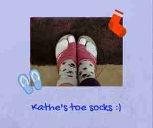 Kathe's toe socks