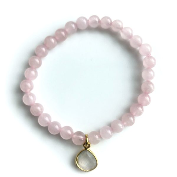Rose Quartz with Moonstone