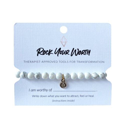 Howlite Beaded Bracelet Rock Your Worth