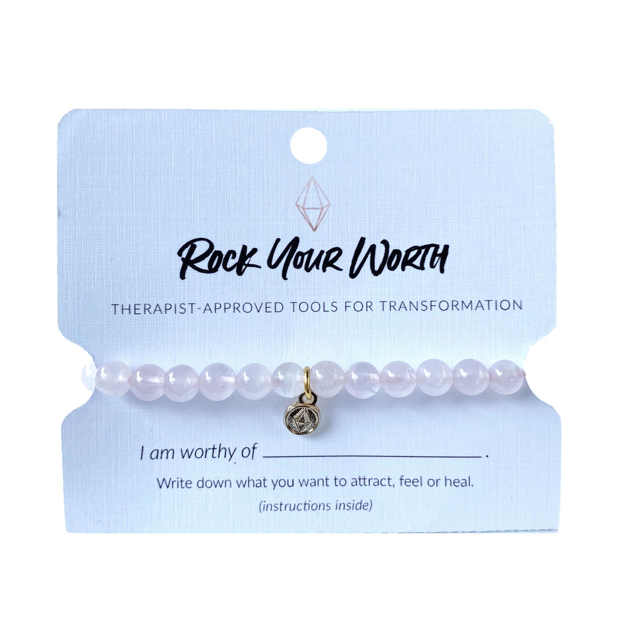 Rose Quartz Bracelet Rock Your Worth