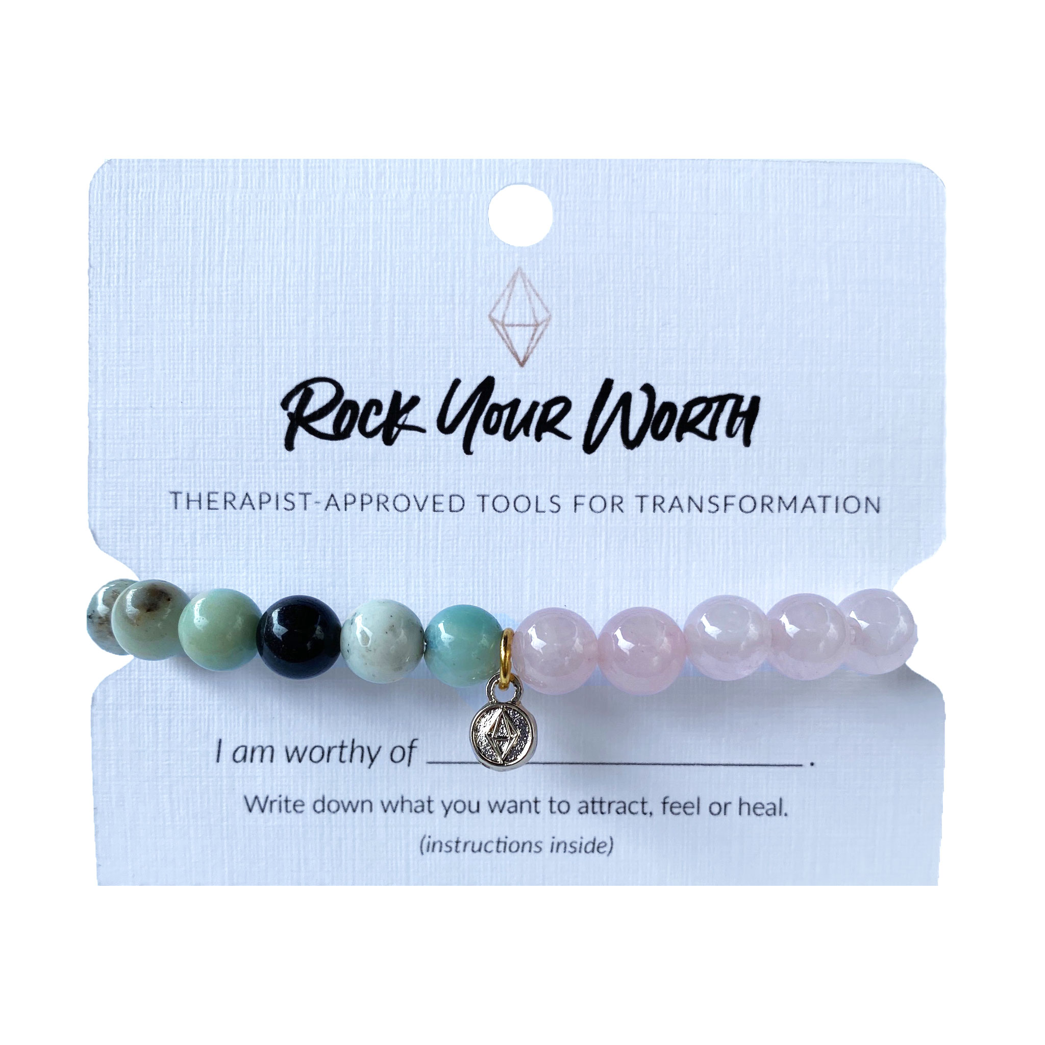 Rose Quartz Amazonite Bracelet Rock Your Worth