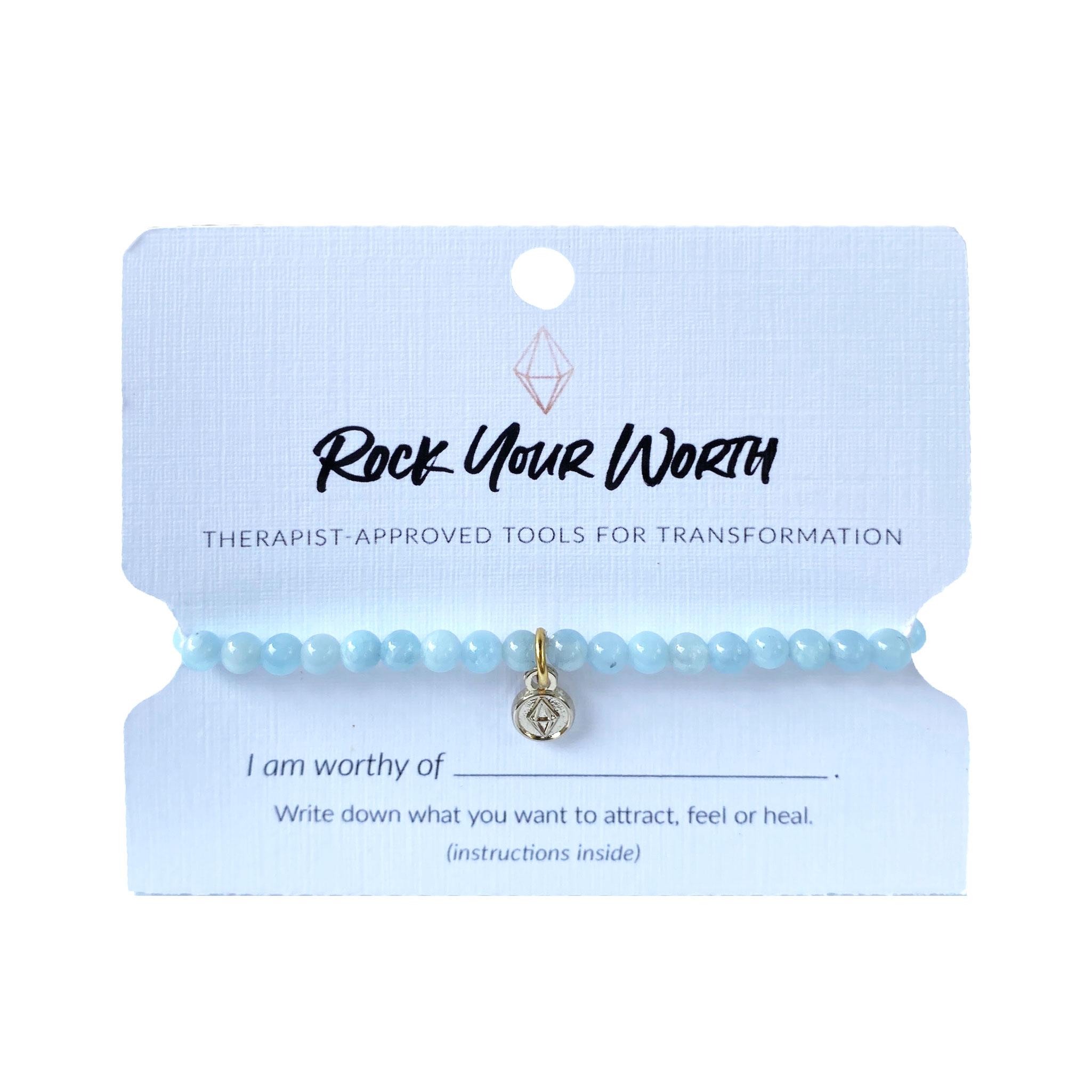 Aquamarine Bracelet Rock Your Worth