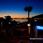 Shurman performance at Beach Bum bar in Rocky Point, Puerto Peñasco, Sonora, México, sunset malecon old port
