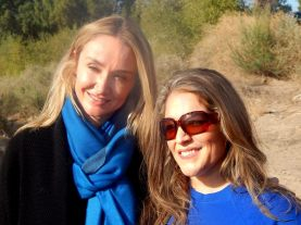 Alexandra Cousteau, of Blue Legacy (grand-daughter of explorer Jacques-Yves Cousteau) with Monica Michelle Grijalva of the Instituto del Desierto Sonorense    Photo used with permission of MMG