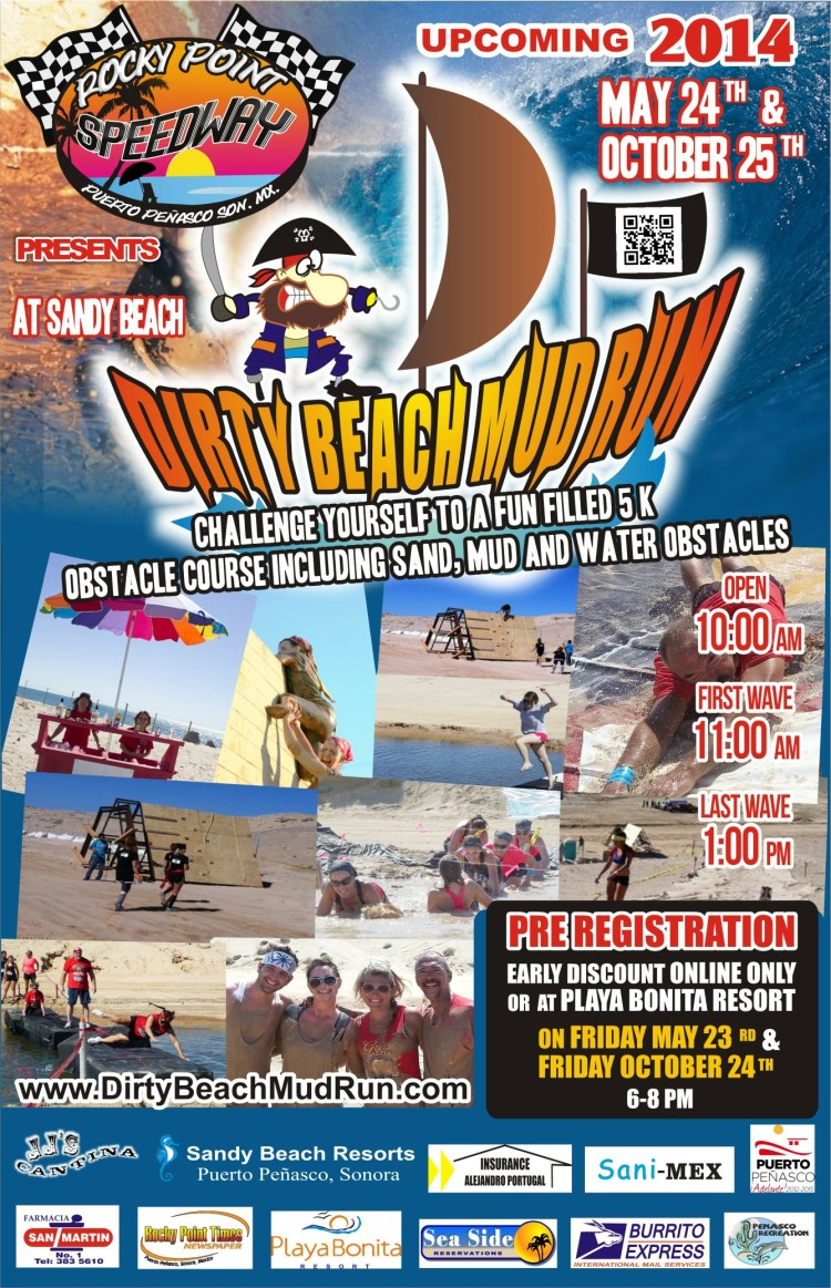 POSTER-ULTIMO-DARREN-OCT-2014 Dirty Beach Mud Run May 24