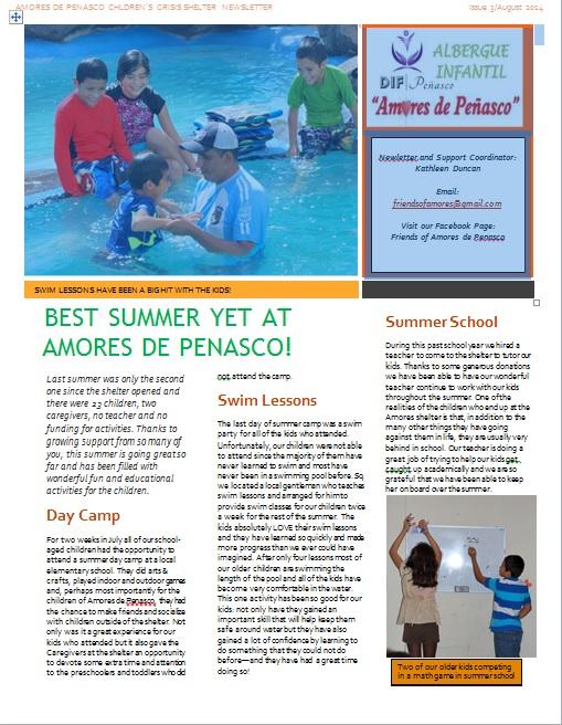 August-pg1 News from Amores de Peñasco