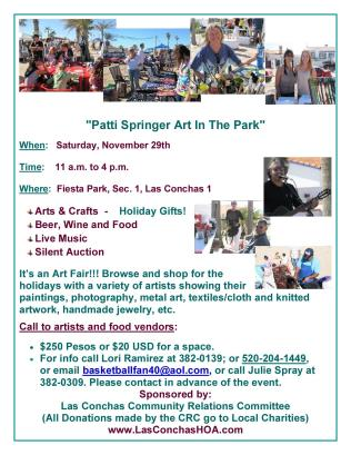 Patti Springer Art In The ParkNew