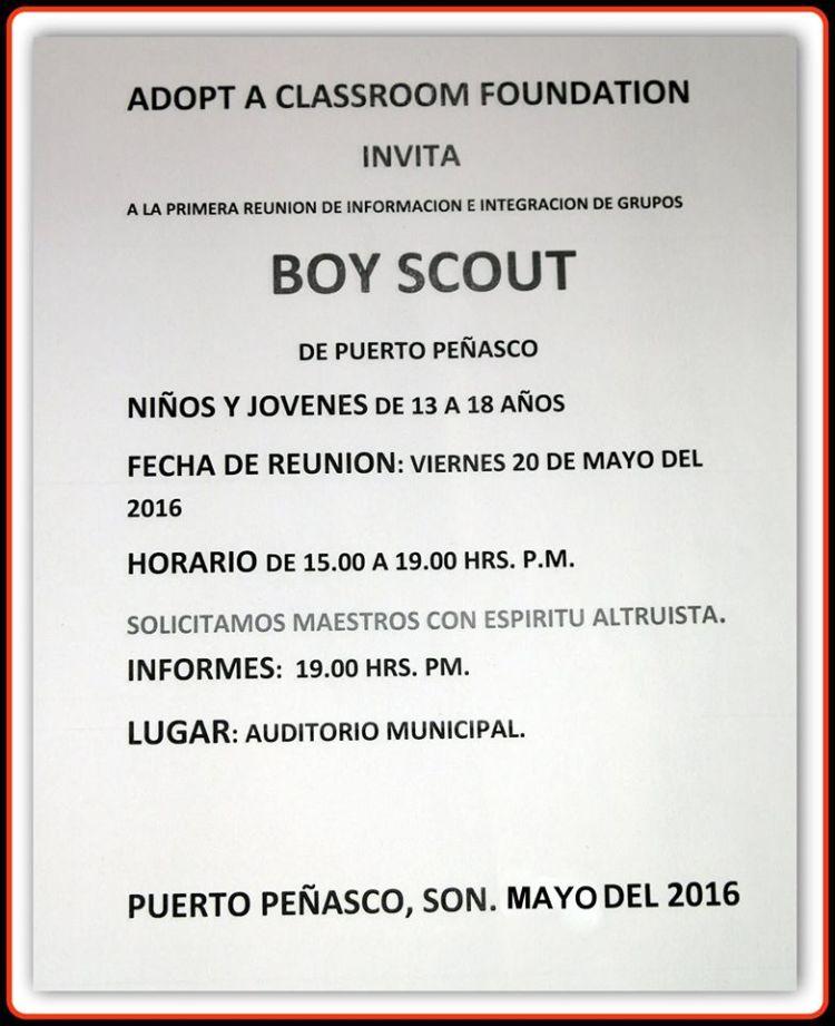 may20-boyscouts Invitación a integración de grupos Boy Scout  20 mayo