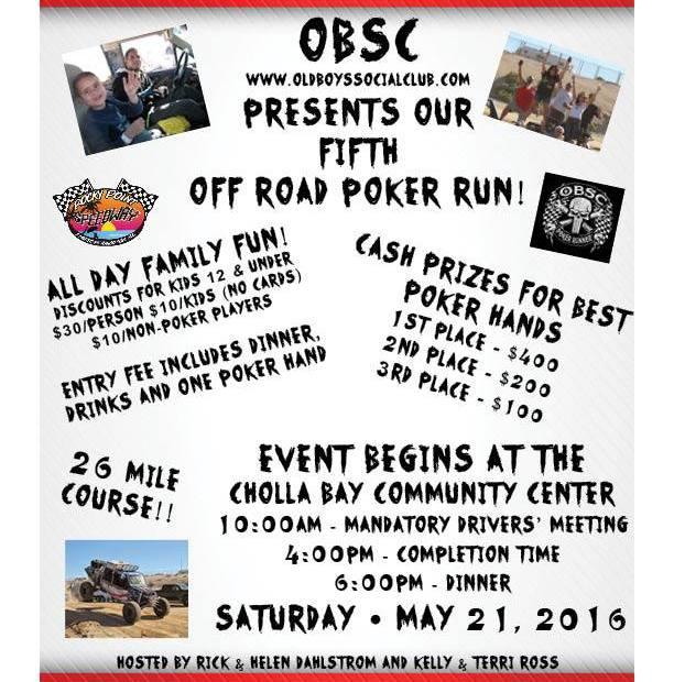 obsc-poker-run-may21 Off-road ready! Rocky Point Weekend Rundown!
