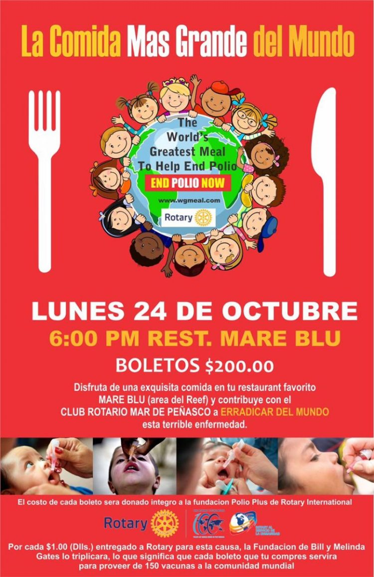 """rotary-oct24-778x1200 Local Rotary Club joins efforts of """"The World's Greatest Meal to Help End Polio"""""""