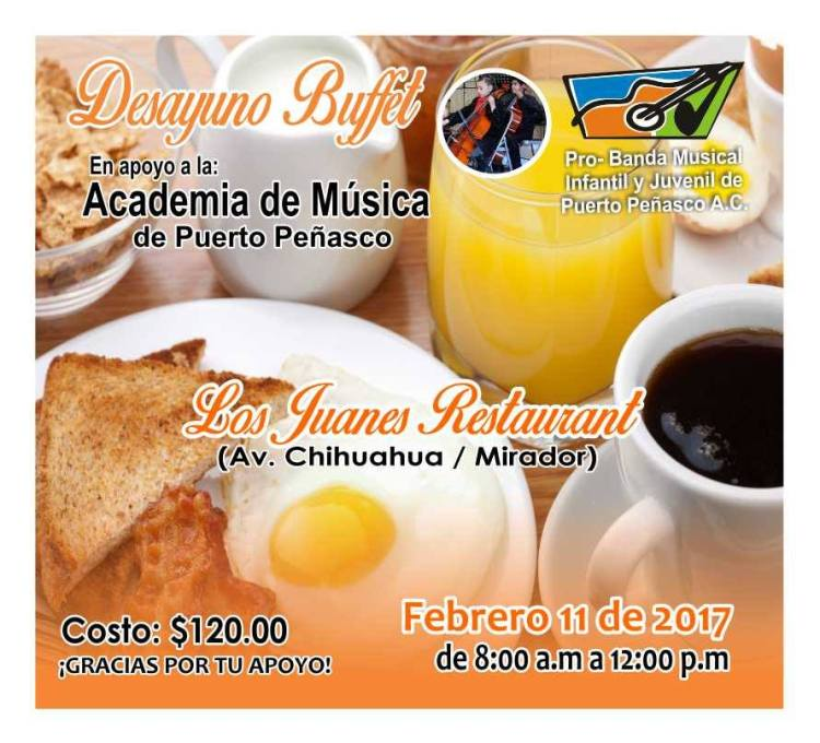 academia-musica-desayuno 5 de mayo Rocky Point Weekend Rundown!