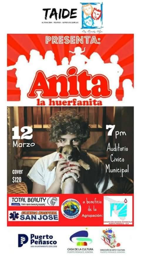 annie-march12 Annie La Huerfanita - Fundraiser March 12