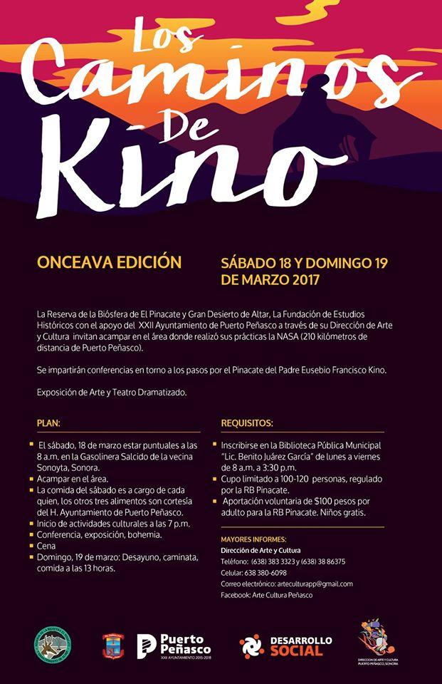kino-marzo2017 11th Annual Kino Walk scheduled for March 18th & 19th
