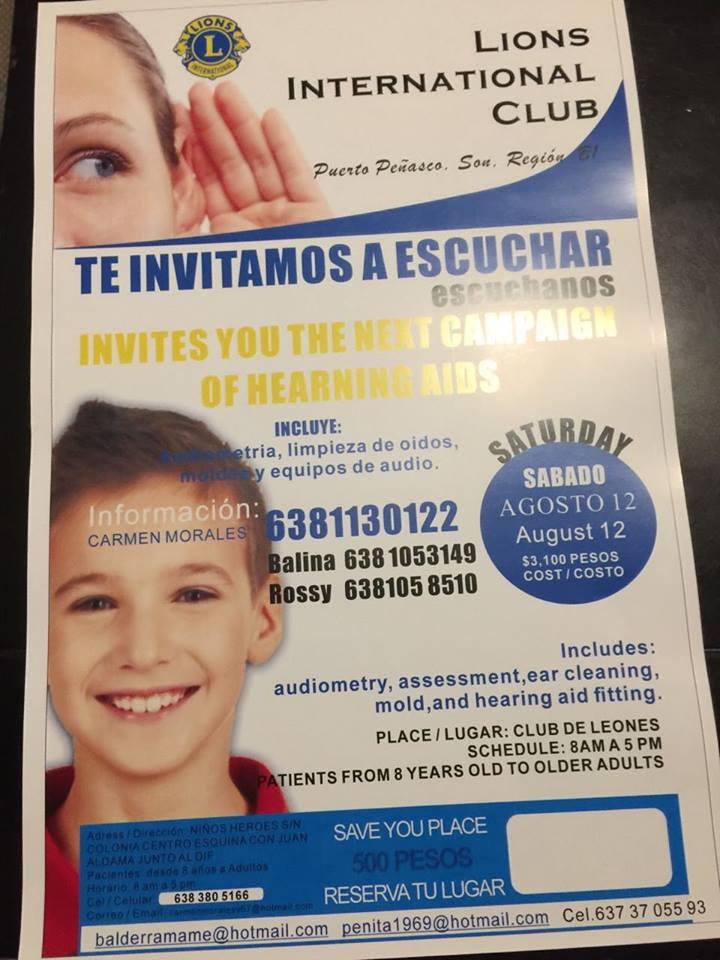 "club-leones-campaña-auditiva ""Te invitamos a escuchar"" Campaña Auditiva del Club de Leones"