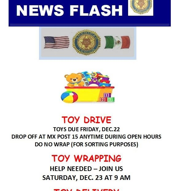 american-legion-toy-drive ¡Feliz Navidad!  Rocky Point Weekend Rundown!