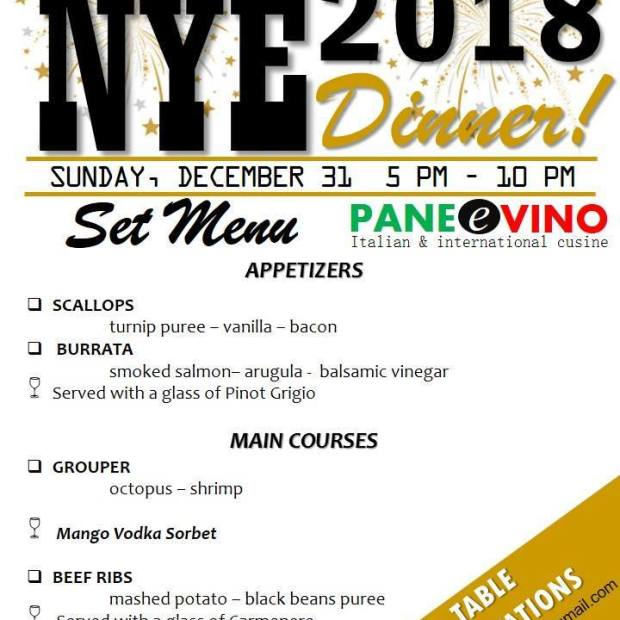 nye-panevino Where to go for Christmas & New Year's in Rocky Point 2017