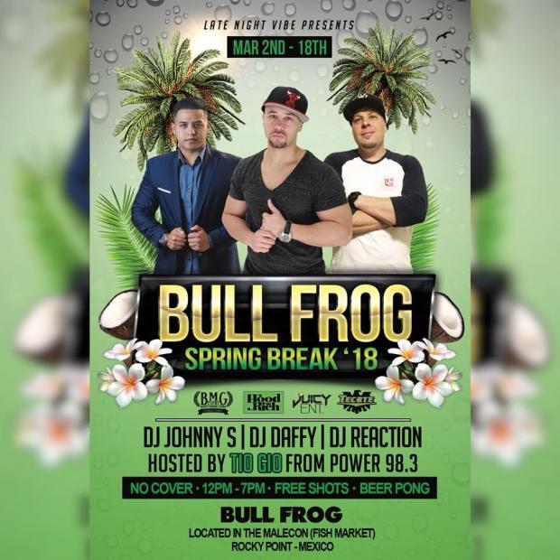 spring-break-Bull-frog Spring Break in Rocky Point 2018!