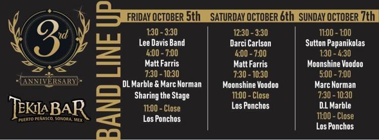 aniversario-tekilas Welcome, October! Rocky Point Weekend Rundown!