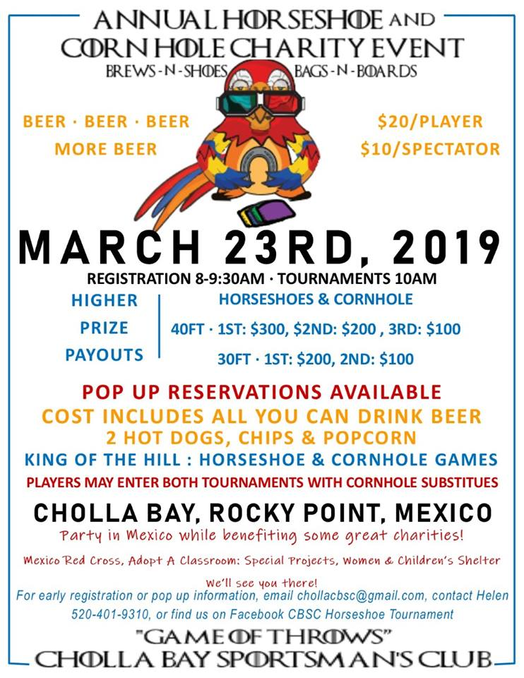 Corn Hole Charity Event @ Cholla Bay