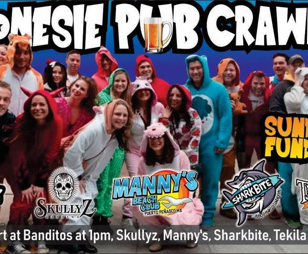 pubcrawl-onesie ...one week till Navidad! Rocky Point Weekend Rundown!