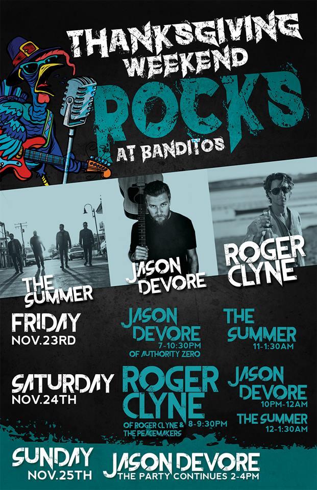 Thanksgiving Weekend Rock At Banditos @ BANDITOS