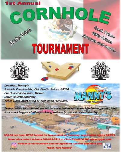 Mannys-Cornhole-Tourney-19 Semana Santa! Rocky Point Weekend Rundown!