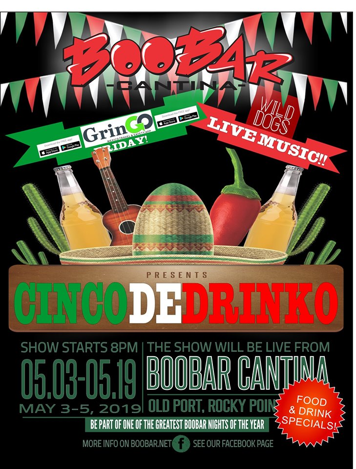 BooBar-Cinco-de-Drinko-19 5 de mayo Rocky Point Weekend Rundown!