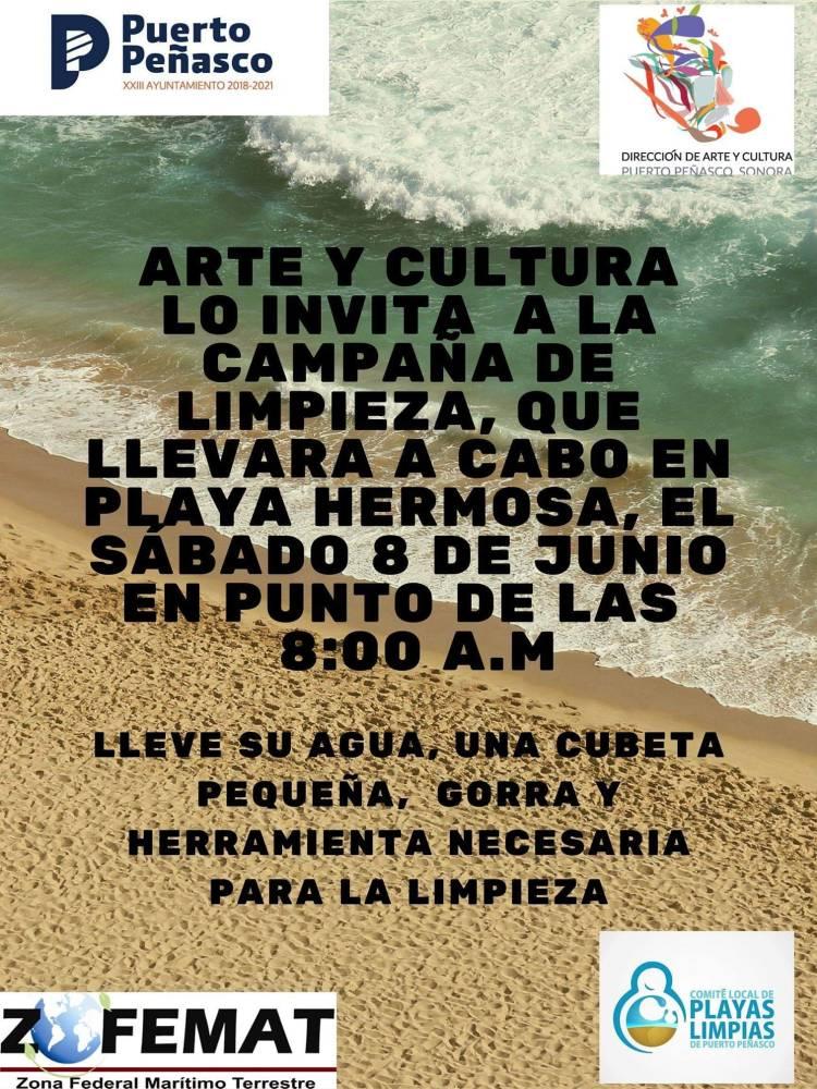 Campaña-limpieza-Arte-y-Cultura-19 Campaña de limpieza de Playa Hermosa