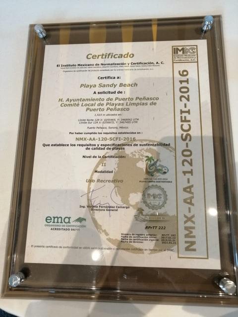 2019-sustainable-beach-level-II-plaque Puerto Peñasco receives Level II Sustainable Beach Certification