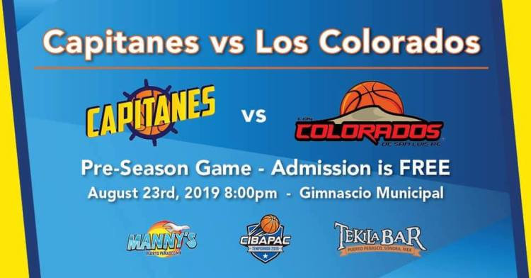 Capitanes-Pre-Season-Game-Aug-19 Capitanes vs Los Colorados pre-season Basketball!