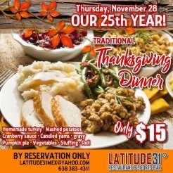 Latitude-31-Thanksgiving-19 What Novem-brrr ? Rocky Point Weekend Rundown!