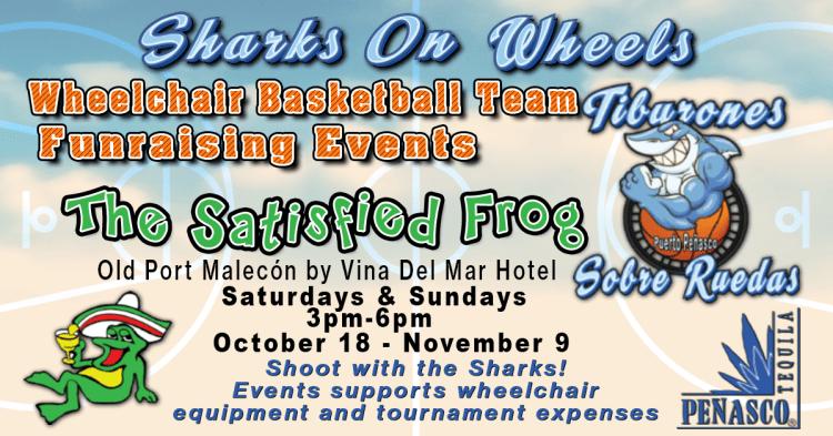 Satisfied-Frog-Sharks-on-Wheels-OCT-NOV-19 Sharks on Wheels Fundraising events