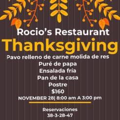 Rocios-Restaurant-Thanksgiving-Dinner-19 Turkey plans 2019?