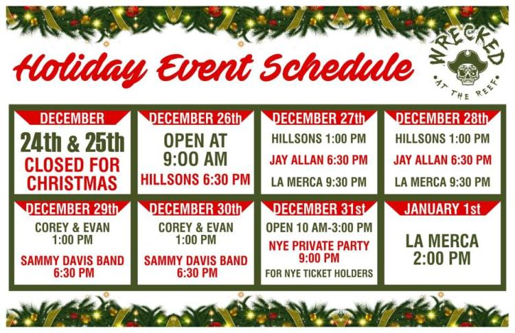 wrecked-holiday-schedule On your marks....Rocky Point Weekend Rundown!