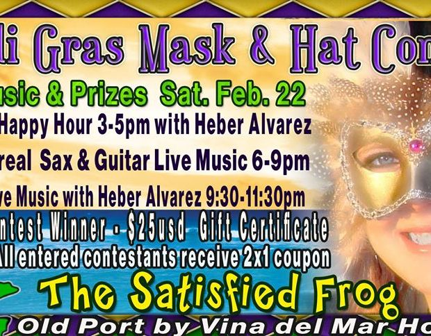 Mardi-Gras-Mask-Hat-Contest-The-Satisfied-Frog-20 Whatcha got? AMOR! Rocky Point Weekend Rundown!