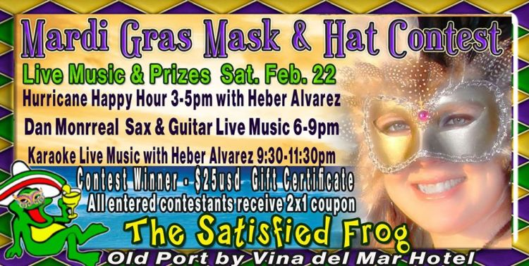 Mardi-Gras-Mask-Hat-Contest-The-Satisfied-Frog-20 Mardi Gras Mask & Hat Contest at The Frog!