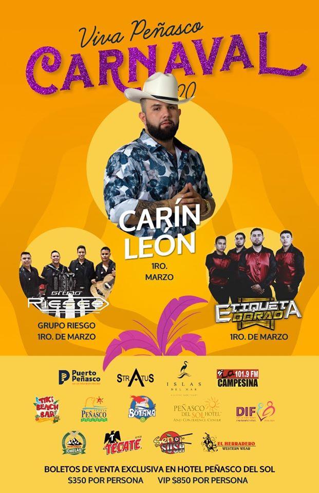 1-marzo Viva Peñasco 2020 Carnaval Calendar