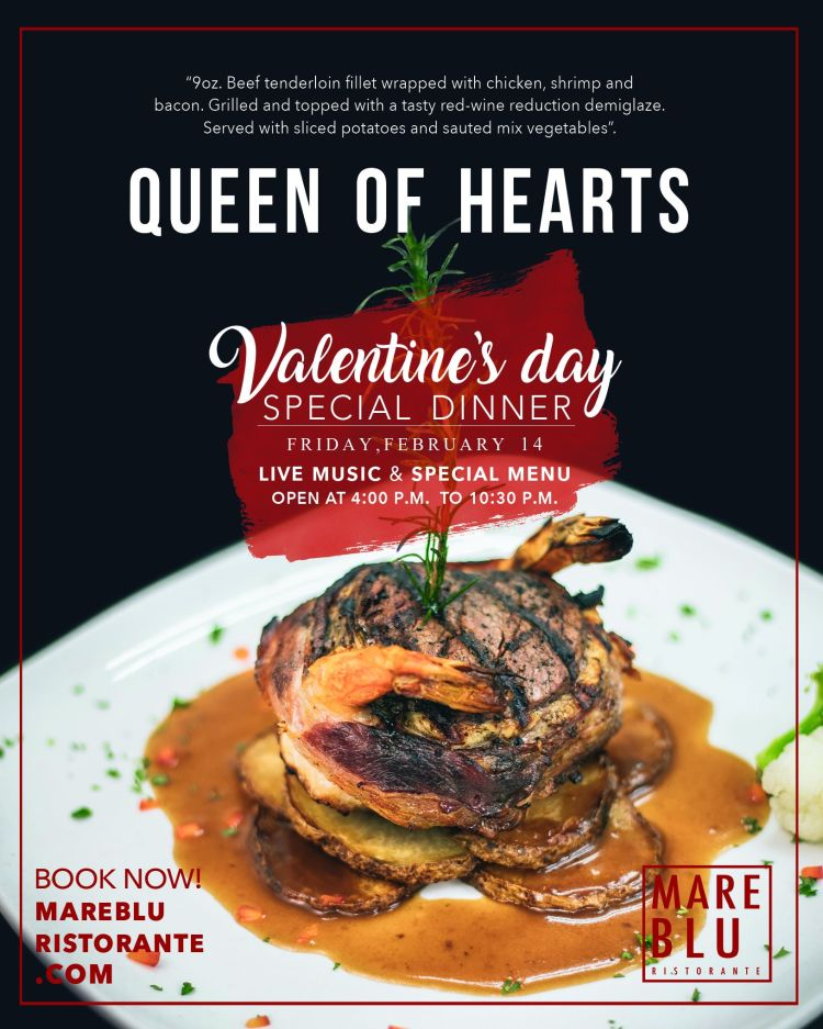 Mare-Blu-Queen-of-Hearts-Valentines-Dinner-20 Queen of Hearts Valentine's Day Special Dinner at Mare Blu