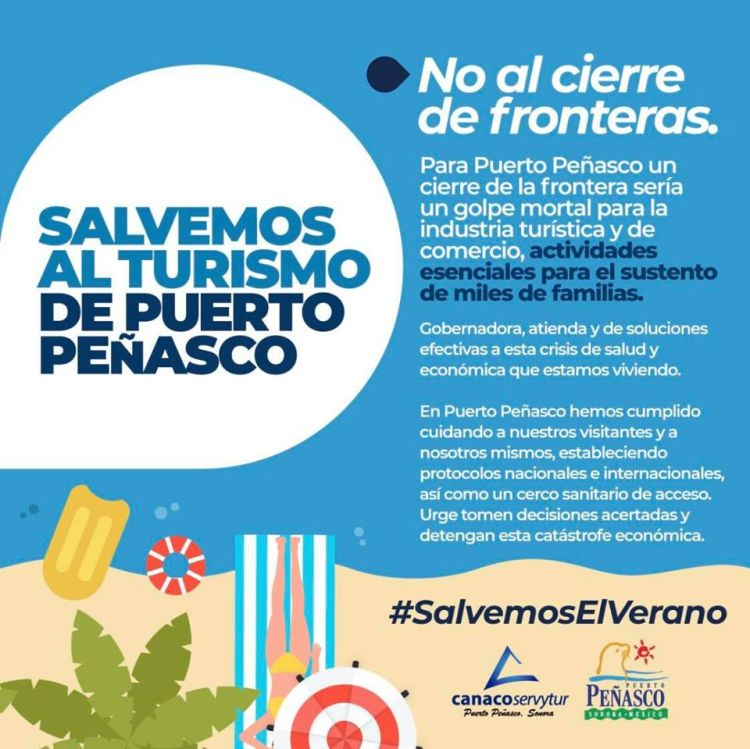 no-al-cierre-de-fronteras Peñasco Chamber of Commerce joins Visitors & Convention Bureau to highlight importance of tourism