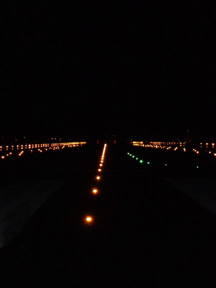 Those crucial runway lights.