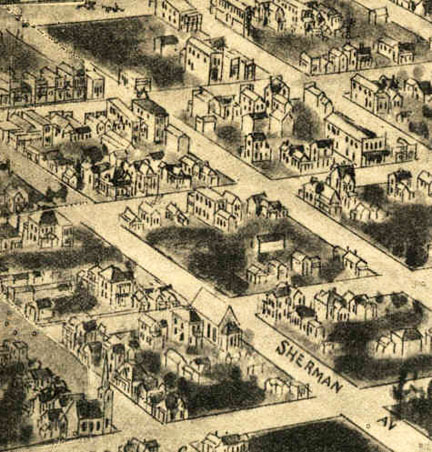 Architect's rendering of Fitzgerald, Georgia, 1895.