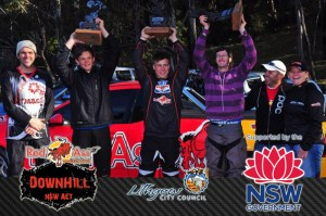 Podium 2012 (l-r): Craig Flynn, Joel Willis, Joe Vejvoda, Skinny Walker, Albert Bacci, Juliane Wisata.
