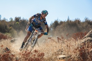 AMB Magazine editor Mike Blewitt on a tough lap at Stromlo.