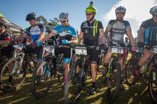 Three bearded men at the race start (r-l): Bellchambers, English and Moffitt. Photo: OuterImage.com.au