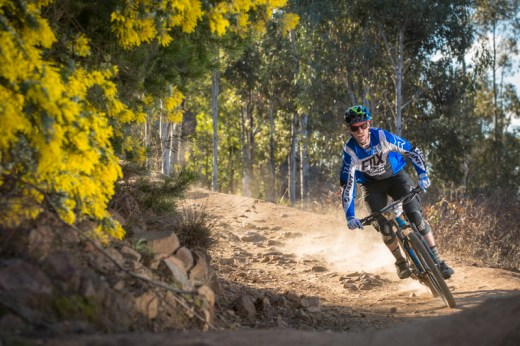 Ben Cory - fastest man on the hill of the day at the Ride FOX- Australia Rollercoaster #Enduro race, hydrated by CamelBak at Stromlo Forest Park.