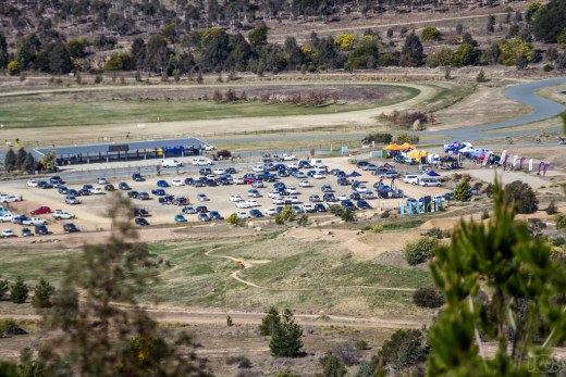 "The ""hub"" at Stromlo Forest Park - the event centre will be located right near the main car park. Photo: Jaime Black"