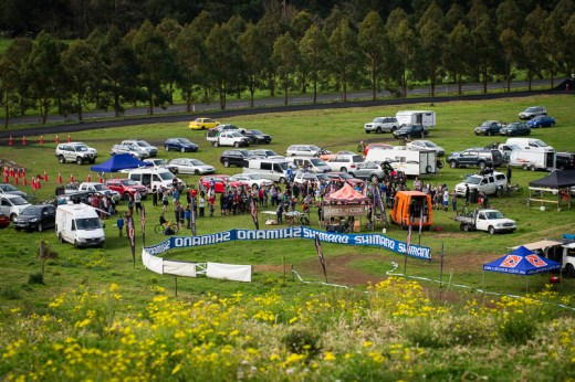 A 140-strong rider field assembled for Rd 2 at Greenvalleys Freeride Park at Tongarra near Shellharbour.
